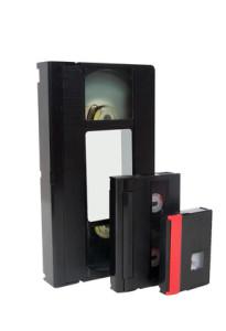 Old video cassette tapes vhs hi8 mini dv